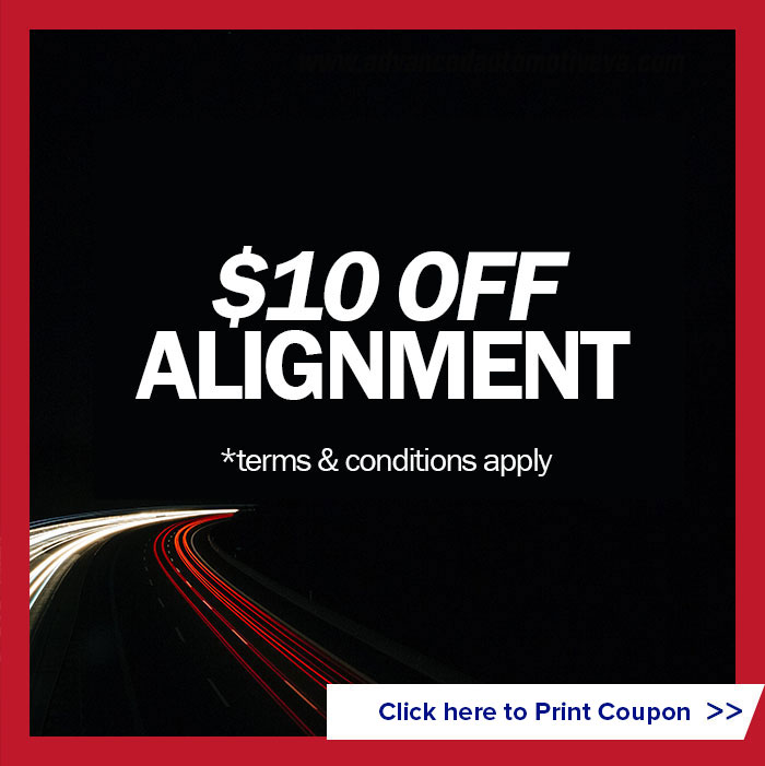$10 off alignment (terms and conditions apply)